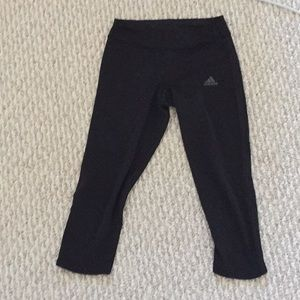 Running adidas half leg leggings climacool+pocket